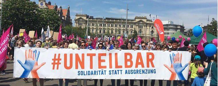 """Demo zum """"Sommer der Solidarität"""" in Leipzig"""